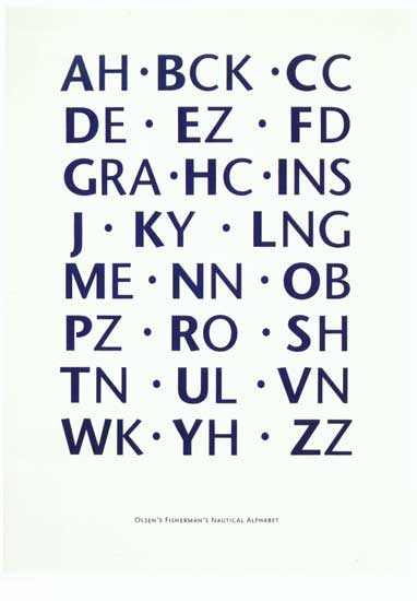 Nautical Alphabet by Ian Hamilton Finlay